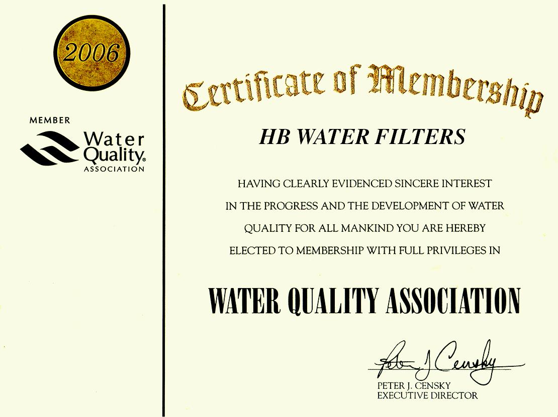 wqa brand water prio association since member 2006